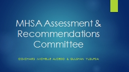 MHSA Assessment & Recommendations Committee PowerPoint PPT Presentation