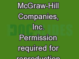 Copyright  ©  The McGraw-Hill Companies, Inc. Permission required for reproduction or display.