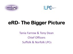eRD - The Bigger Picture PowerPoint PPT Presentation