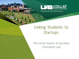 Linking Students to Startups