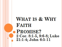 What is & Why Faith