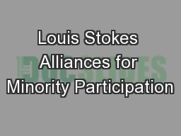 Louis Stokes Alliances for Minority Participation