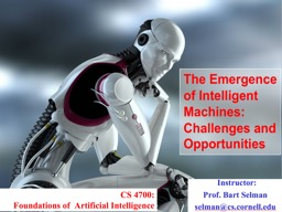 1 The Emergence of Artificial Intelligence