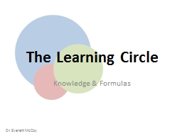 The Learning Circle Knowledge & Formulas