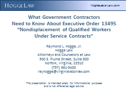 H ogge  L aw  What Government Contractors PowerPoint PPT Presentation