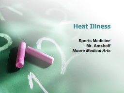 Heat Illness Sports Medicine