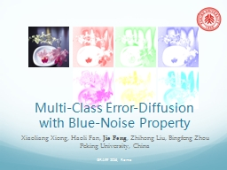 Multi-Class Error-Diffusion with Blue-Noise Property
