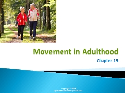 Movement in Adulthood Chapter 15