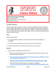 FETI Drill Guide    Page of Instructor Preparation Thi