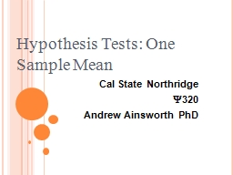 Cal State Northridge  PowerPoint PPT Presentation