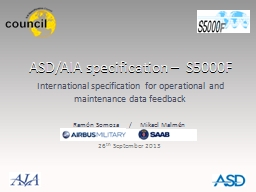 ASD/AIA specification –  S5000F