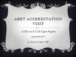 ABET Accreditation Visit
