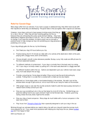 Just Rewards LLC Relief for Carsick Dogs Many dogs su