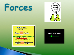 Forces force is either a push or a pull
