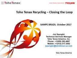 Toho Tenax America Toho Tenax Recycling – Closing the Loop