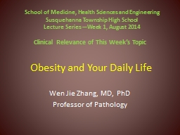Obesity and Your Daily Life PowerPoint PPT Presentation