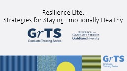 Resilience Lite: Strategies for