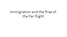 Immigration and the Rise of the Far Right