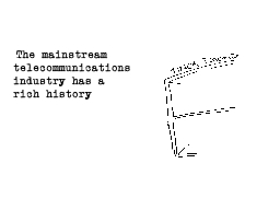 The mainstream telecommunications industry has a rich history