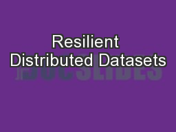 Resilient Distributed Datasets