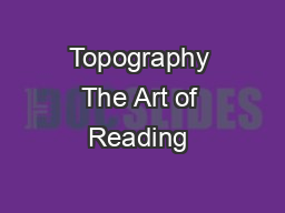 Topography The Art of Reading &