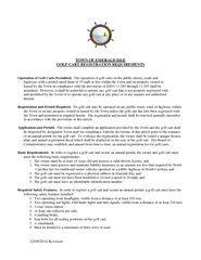 Revision TOWN OF EMERALD ISLE GOLF CART REGISTRATION