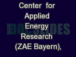 Bavarian  Center  for Applied Energy Research (ZAE Bayern),