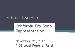 Ethical Issues in California