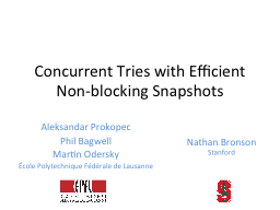Concurrent Tries with Efficient Non-blocking Snapshots