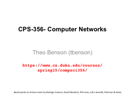 CPS-356- Computer Networks