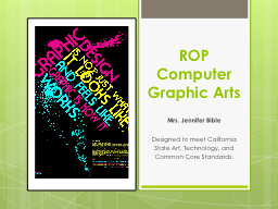 ROP Computer Graphic Arts