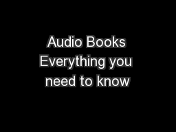 Audio Books Everything you need to know
