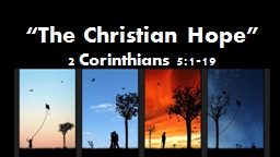 """The Christian Hope"""