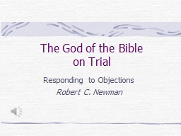 The God of the Bible on Trial