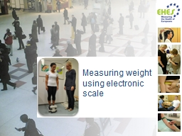 Measuring weight using electronic scale