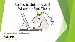 Fantastic Unicorns and Where to Find Them