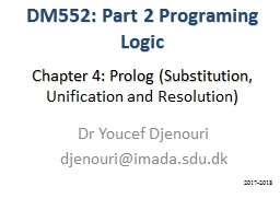 Chapter 4:  Prolog (Substitution,