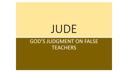 JUDE GOD'S JUDGMENT ON