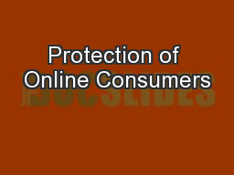 Protection of Online Consumers