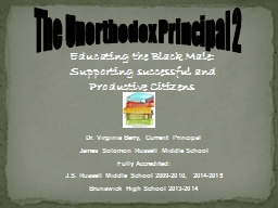The Unorthodox Principal 2 PowerPoint PPT Presentation