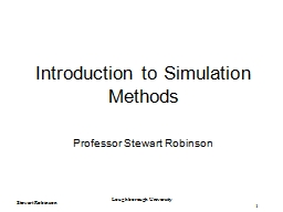 Introduction to  Simulation Methods