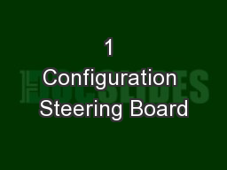 1 Configuration Steering Board