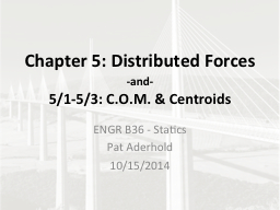 Chapter 5: Distributed Forces