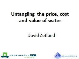 Untangling the price, cost