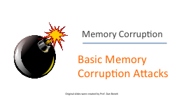 Memory Corruption Basic