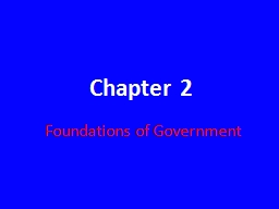 Chapter 2 Foundations of Government