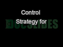 Control Strategy for