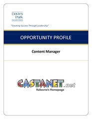 d OPPORTUNITY PROFILE Content Manager  OPPORTUNITY PRO