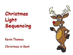 Christmas Light Sequencing
