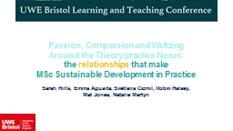 Passion, Compassion and Waltzing Around the Theory/practice PowerPoint PPT Presentation